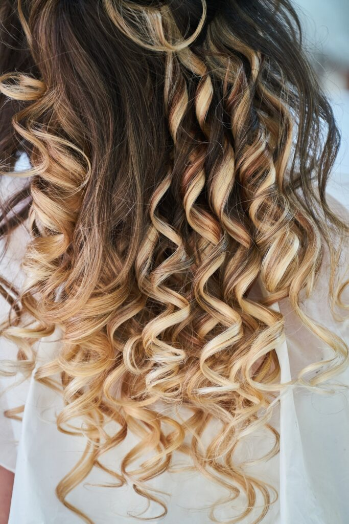 Blonde Curly Hairs Picture